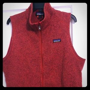 Patagonia women's xl Better sweater vest red